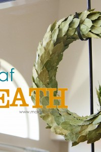 Bay Leaf Wreath (year round decor)