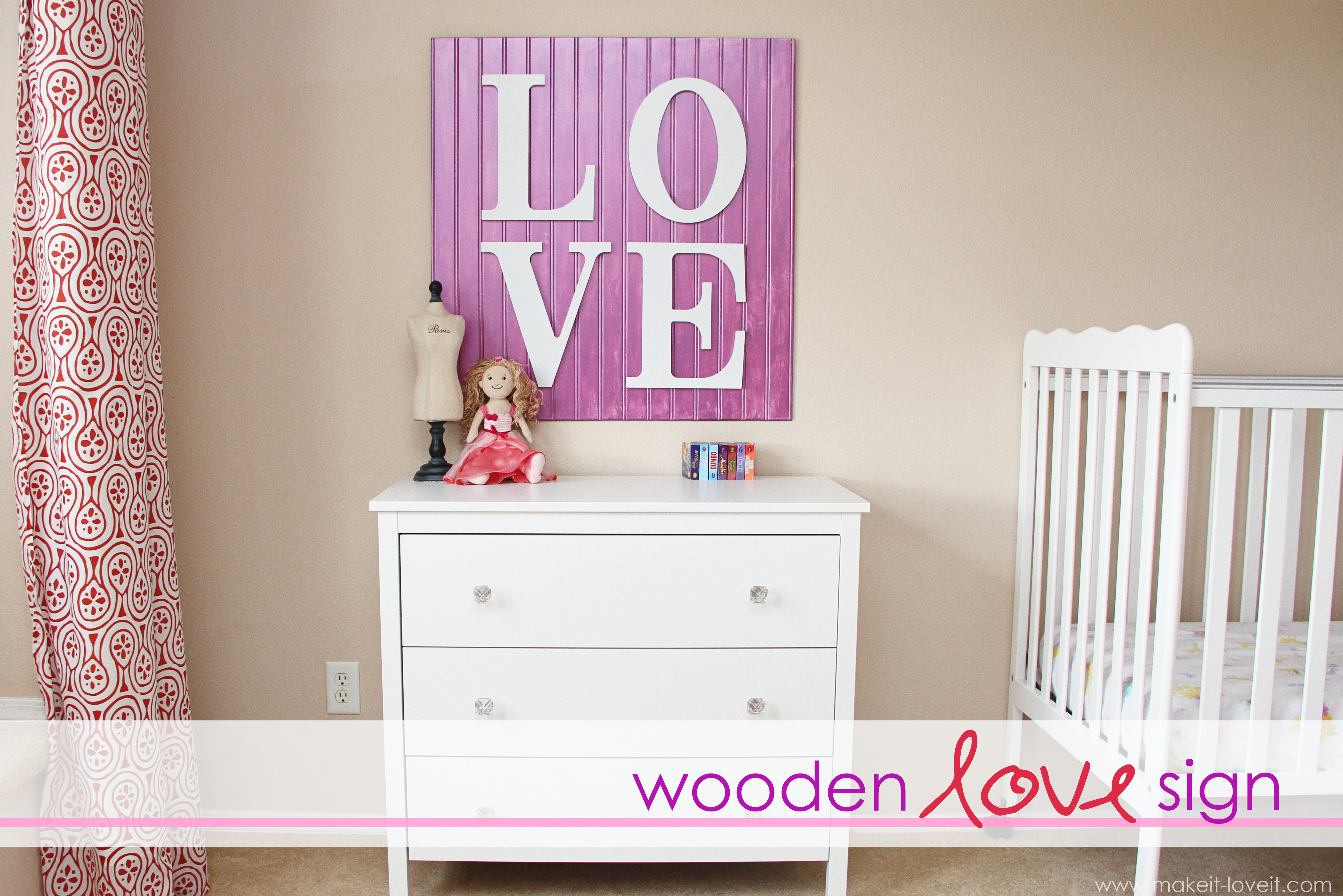 Wall Decor: wooden LOVE sign | Make It and Love It