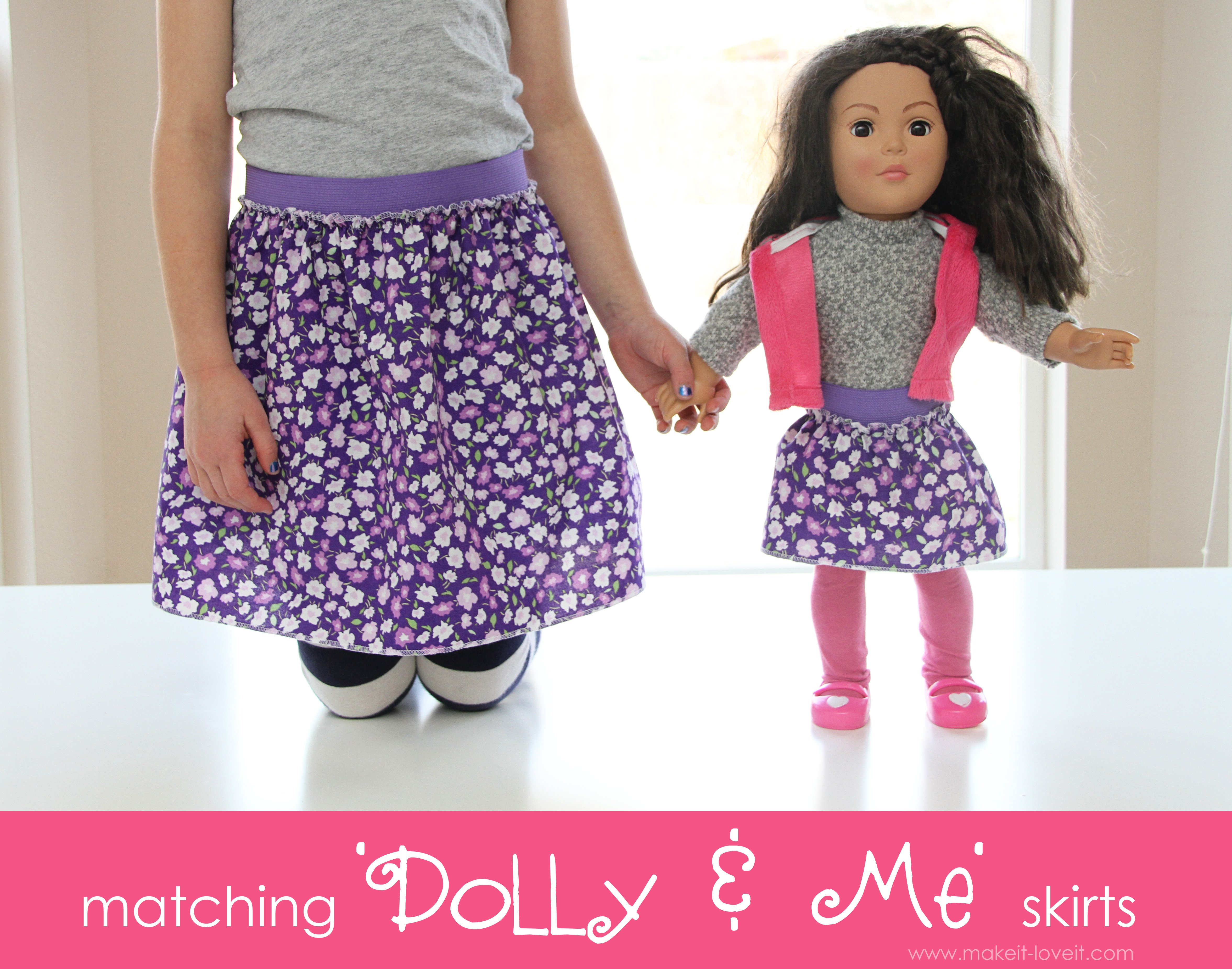 Matching 'Dolly & Me' Skirts
