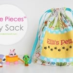 """Little Pieces"" Toy Sack.....a great place to store all those teeny pieces!"