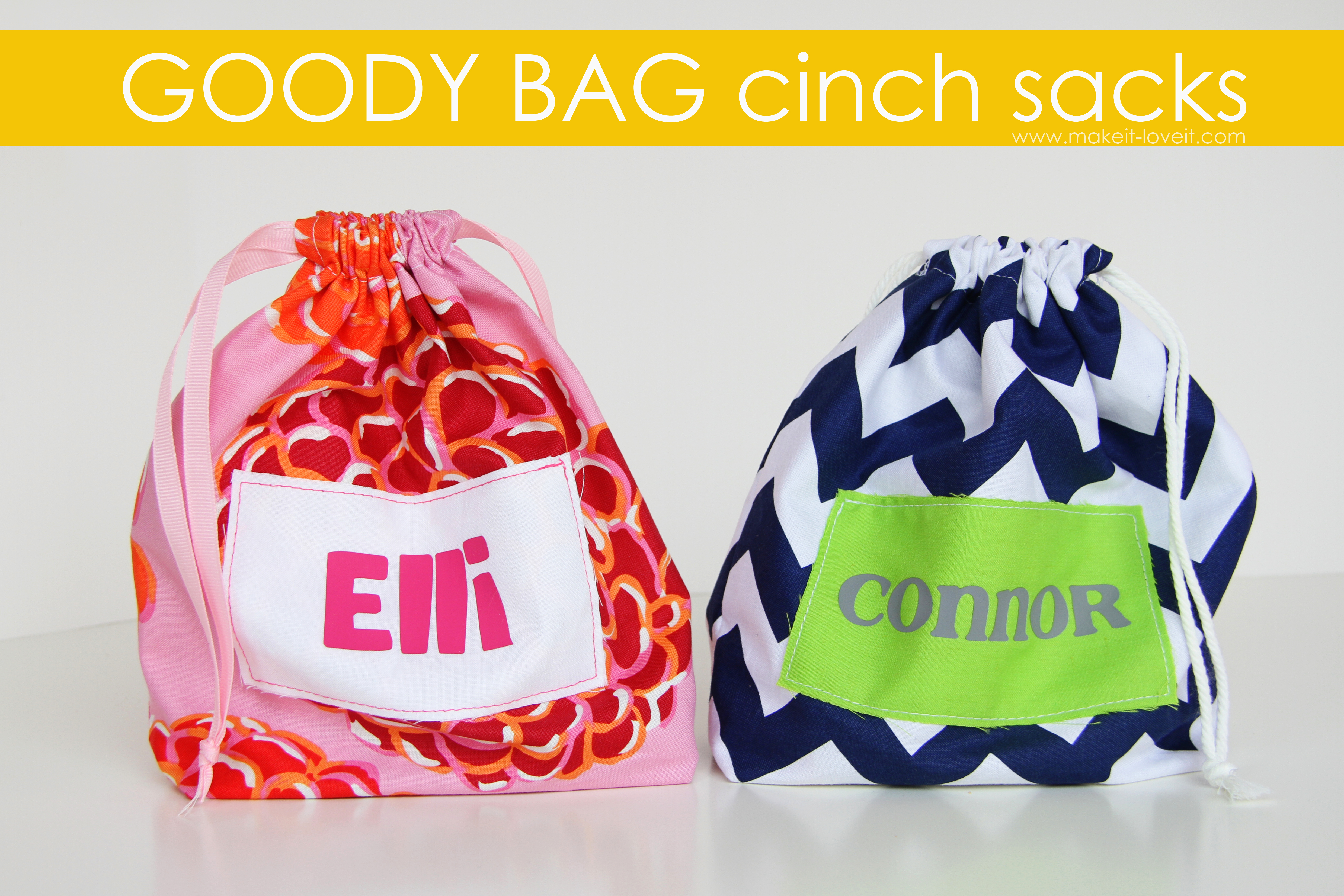 goody bag cinch sacks hey use up some of that scrap