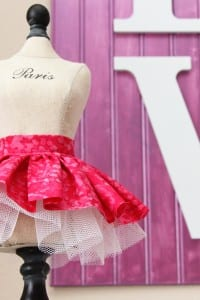 Fabric/Tulle Skirt......for dolls and decor