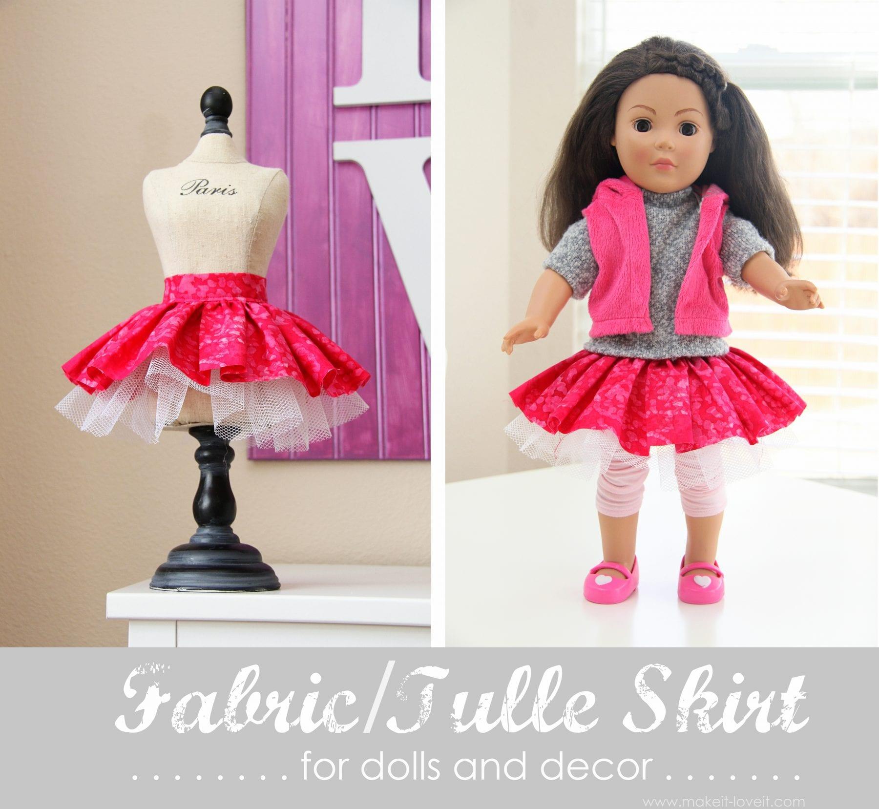 Юбка на куклу сшить своими руками