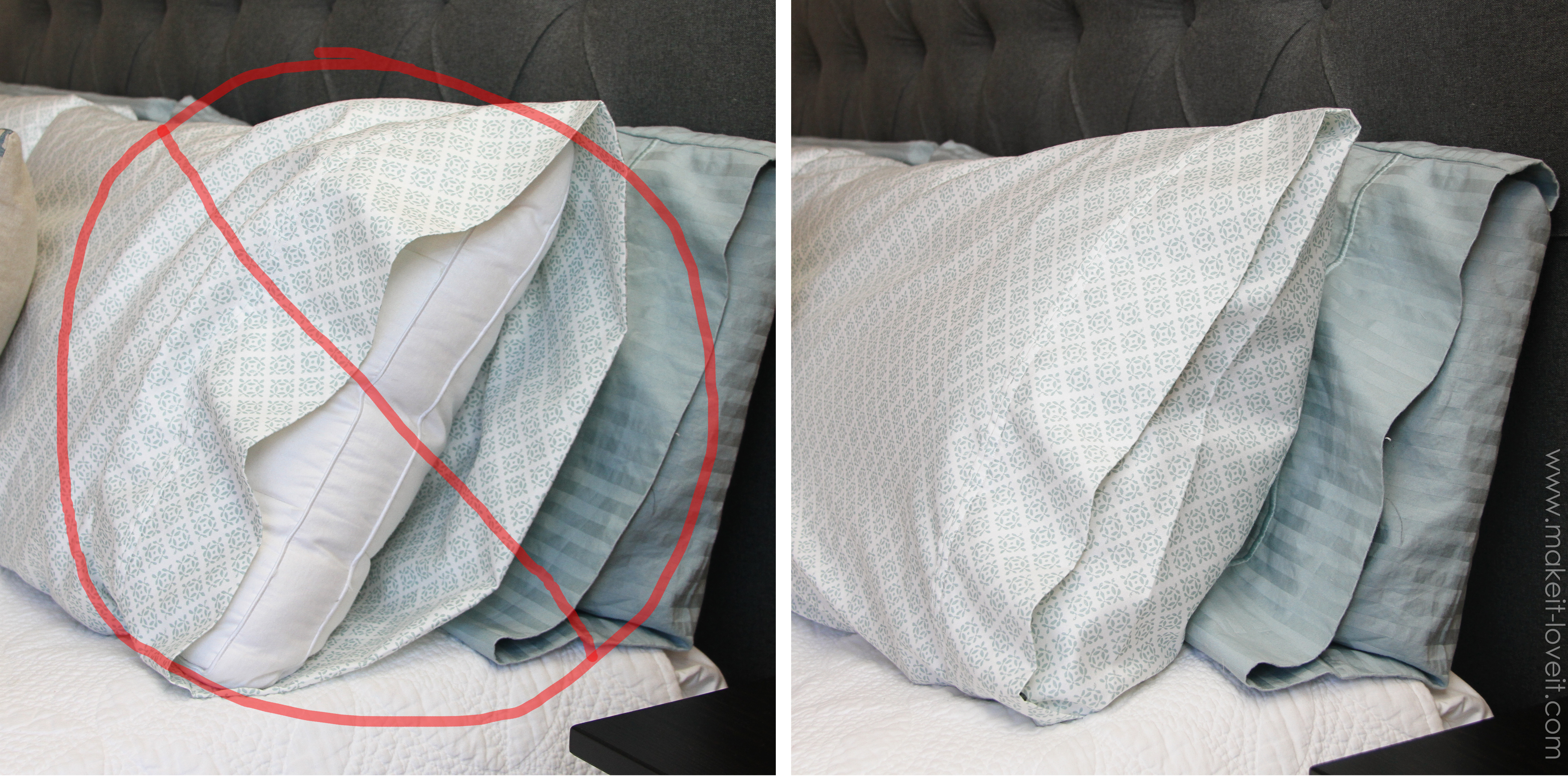 Envelope Closure Pillowcase (for bed pillows) | Make It ...