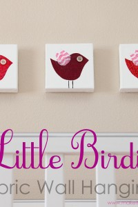 Little Birdie Wall Hangings (plus free template)