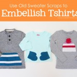 Embellish Tshirts.....with old SWEATER SCRAPS (or any ol' scraps, really)