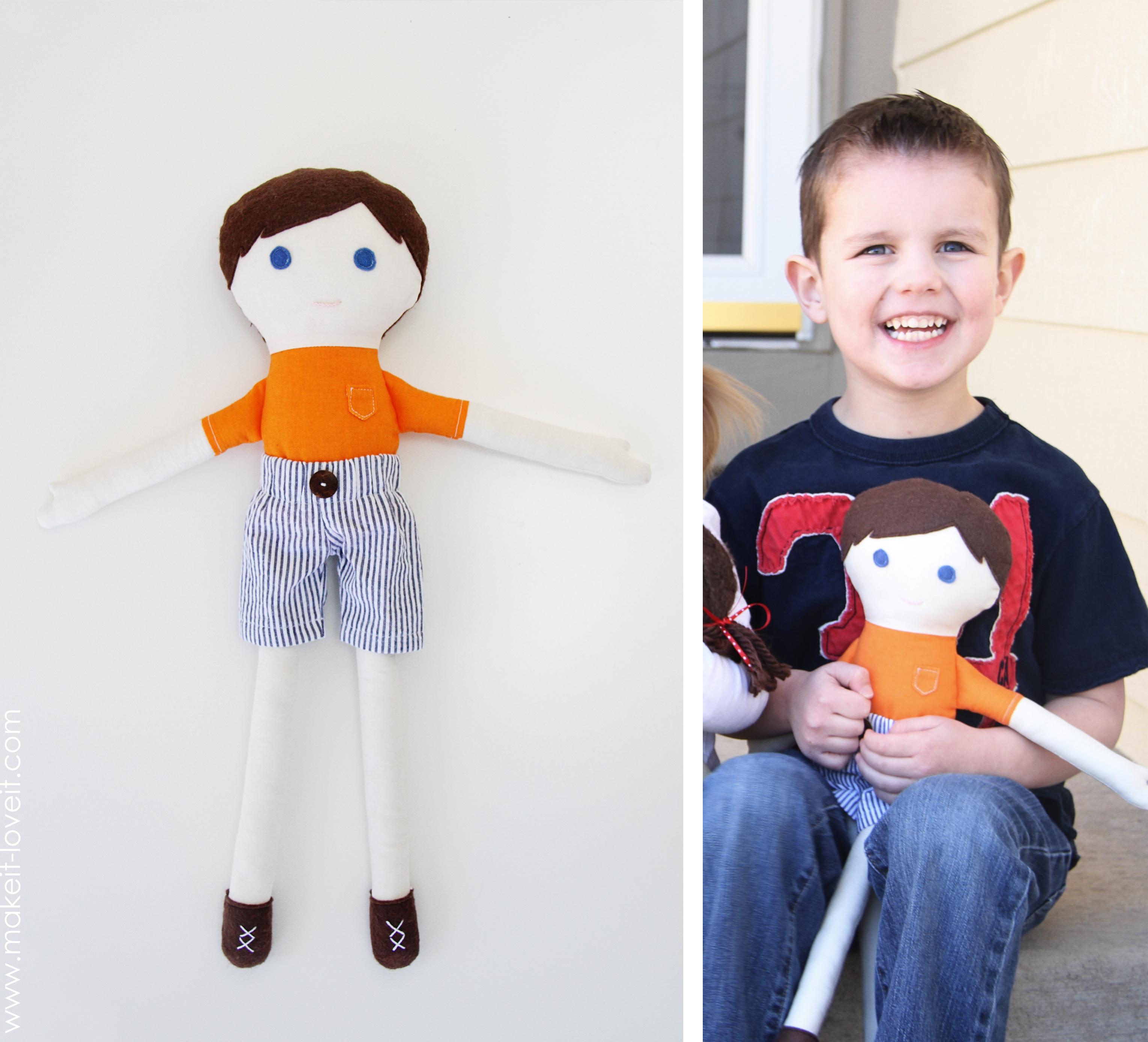 Как сделать простую куколку из ткани