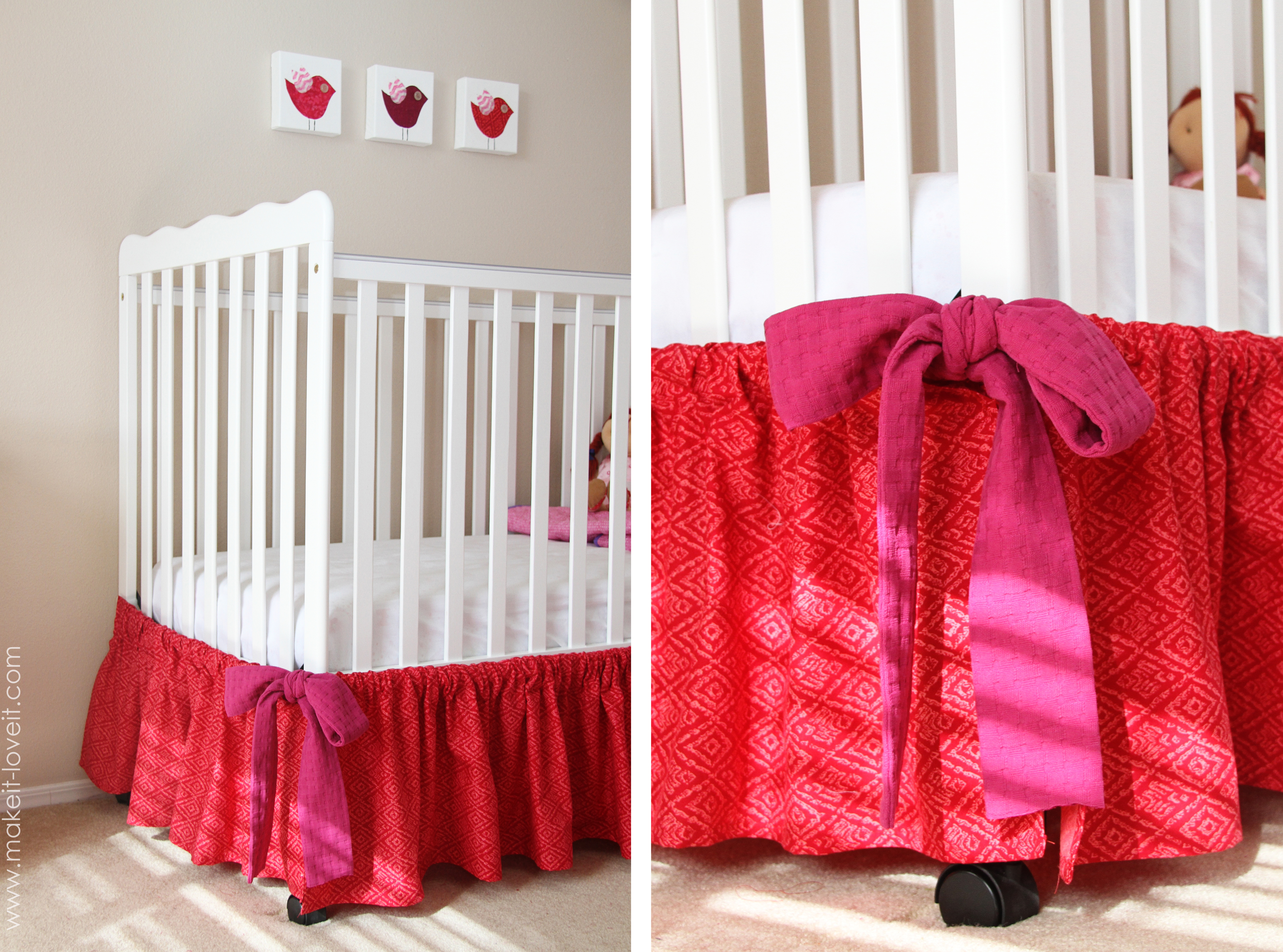 Making Baby Crib Skirt