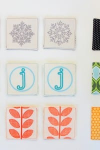 Embroidered (or appliqued) Fabric Coasters