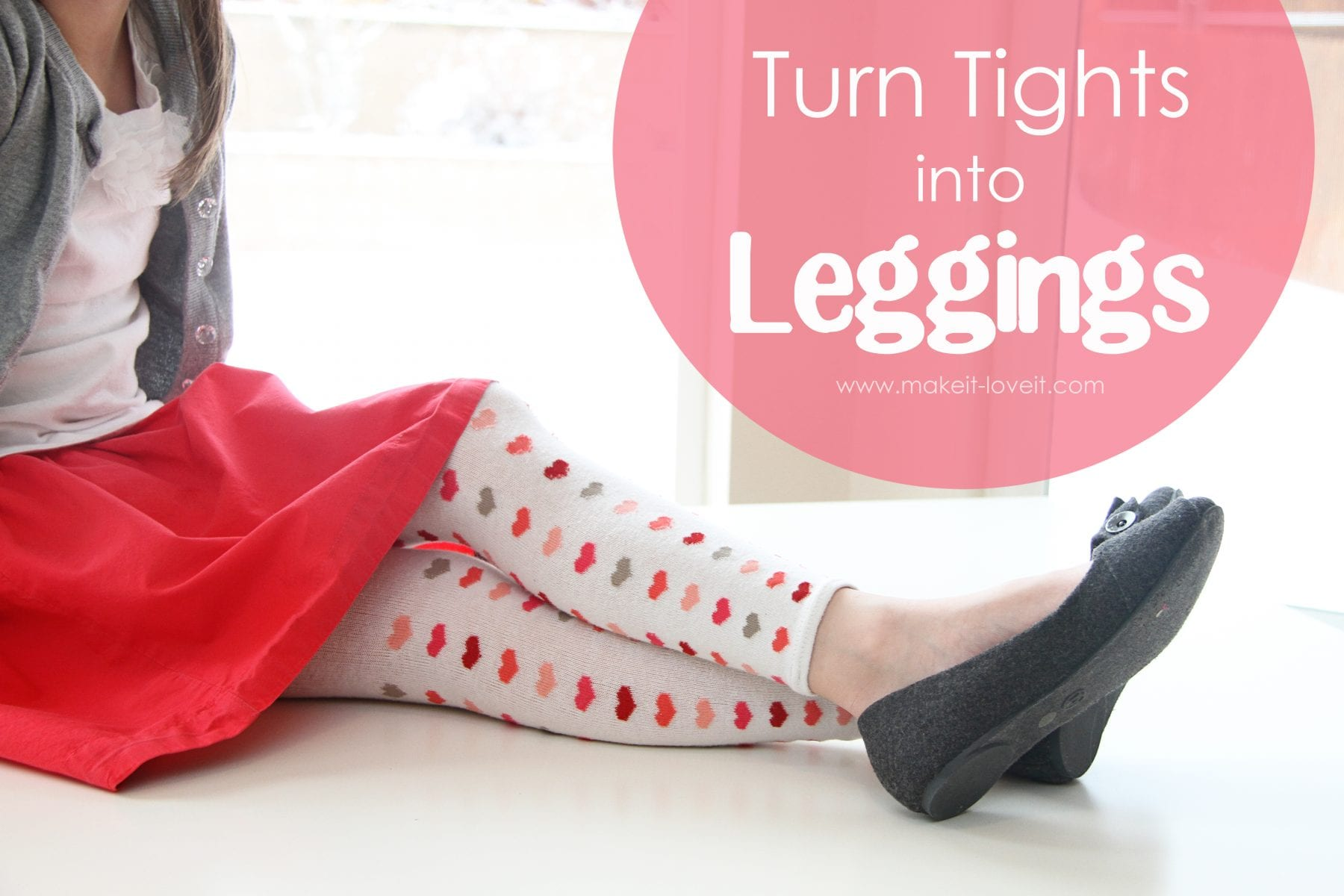 Turn Outgrown Tights into Leggings