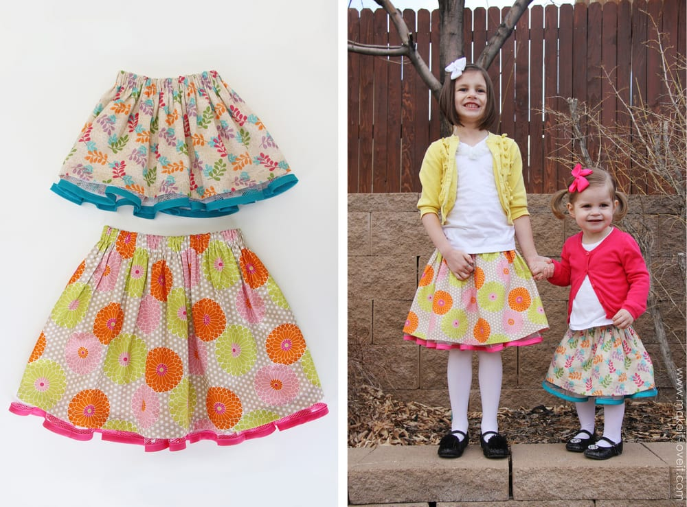 fabric and tulle skirts