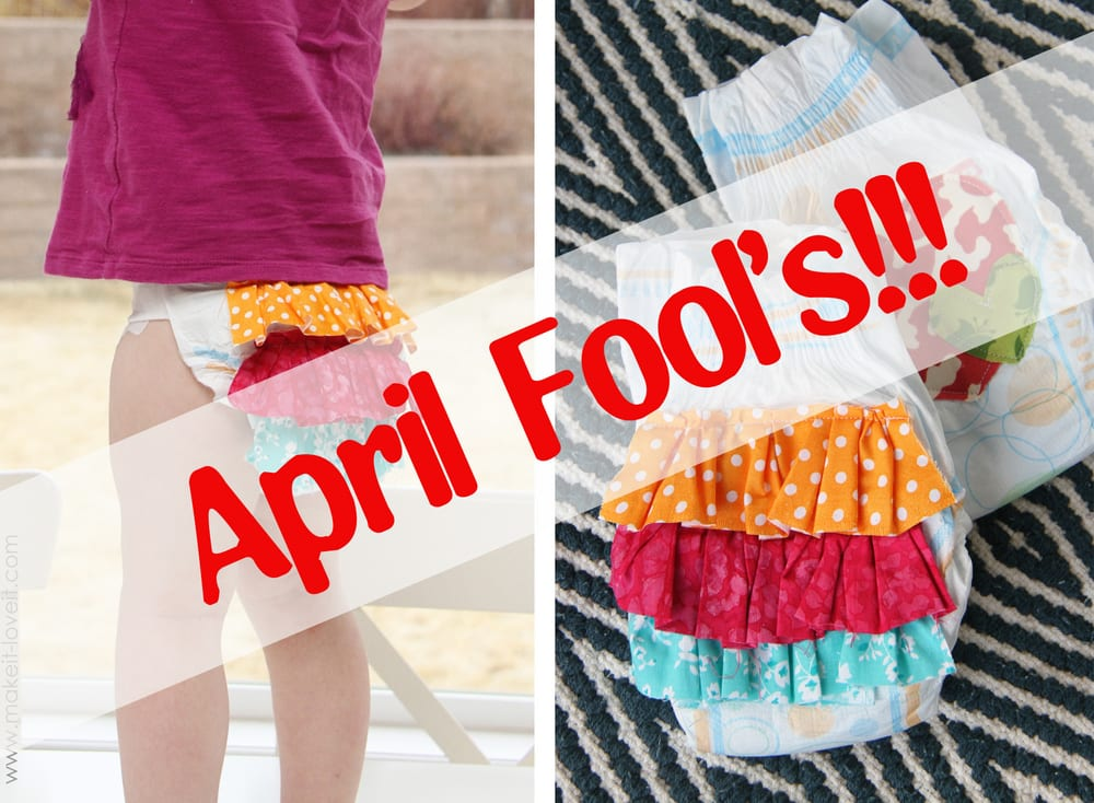 Did you see yesterday's APRIL FOOL'S joke?!?! (I don't really decorate diapers for fun…ha!)