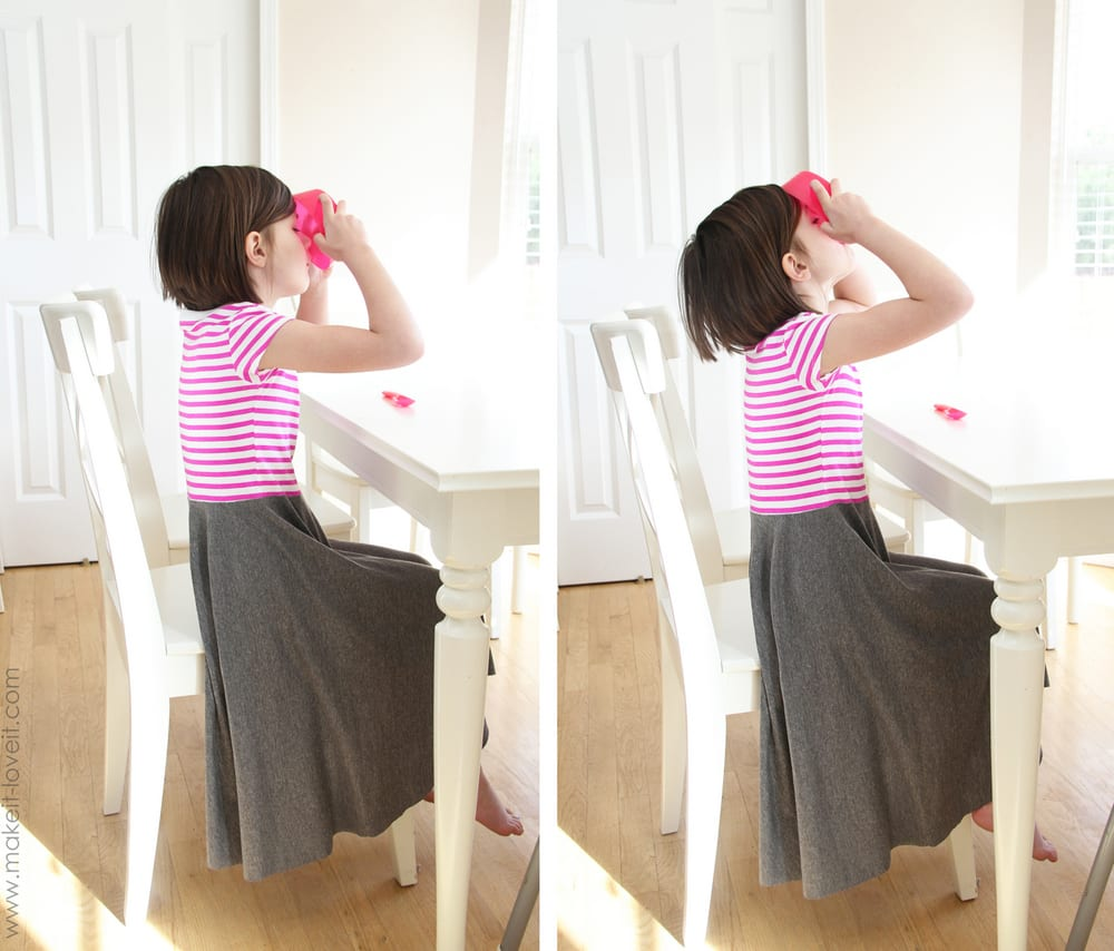 Super Simple Circle Dress From Tshirt Knit Bed Sheet