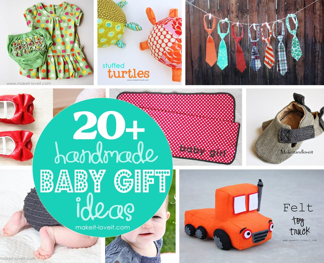 20 Handmade Craft Ideas For Baby Gifts