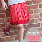 Ombre Fringe Skirt (made from old Tshirts)