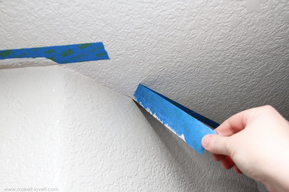 Line Texture Paint : Home improvement painting a straight line on textured