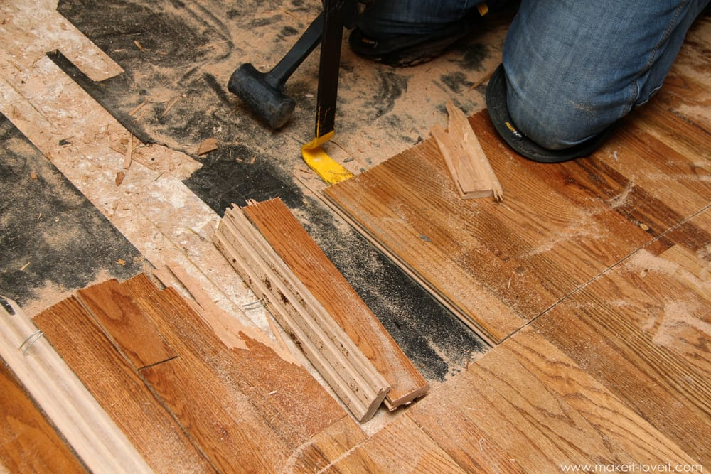 IMG_4577 - Home Improvement: How To REMOVE Hardwood Floors Make It And Love It