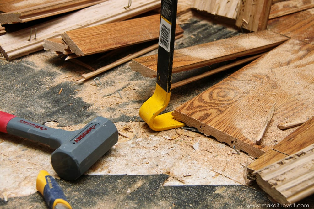 IMG_4587 - Home Improvement: How To REMOVE Hardwood Floors Make It And Love It