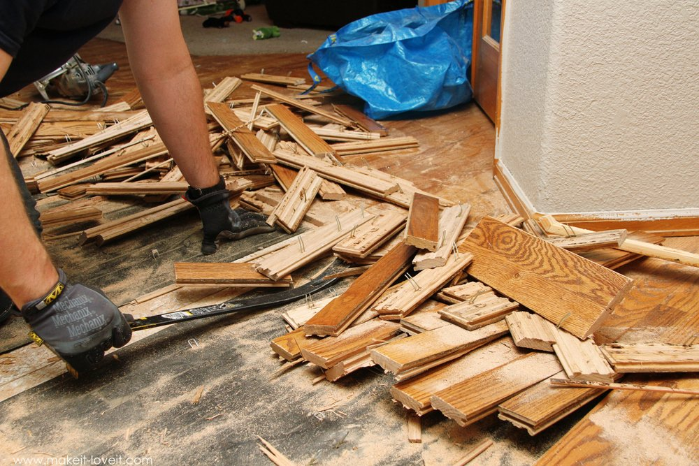 How To Remove Hardwood Flooring - Alyssamyers