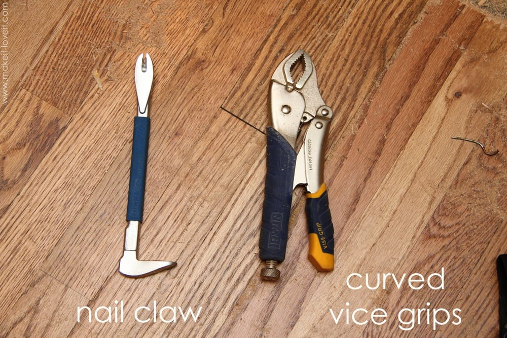 Home improvement how to remove hardwood floors make it for Wood floor installation tools