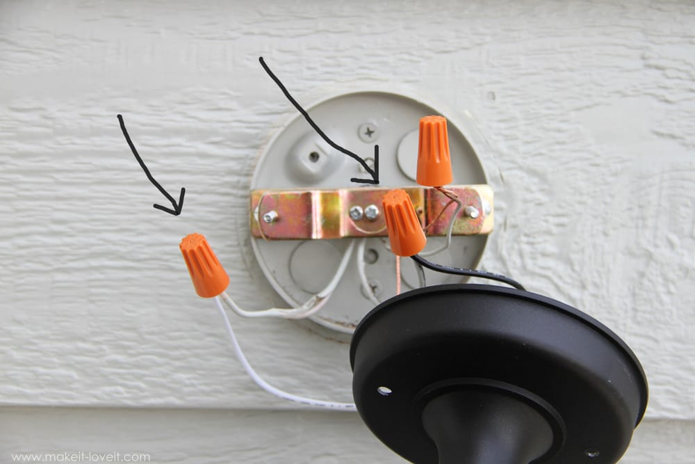 Replacing Exterior Wall Lights : Home Improvement: Replacing Outdoor Light Fixtures (do not be scared!!) Make It and Love It