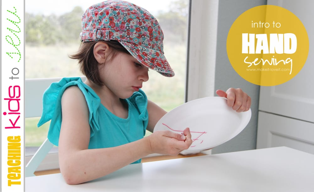 Teaching Kids to Sew, Part 1: Intro to Hand Sewing