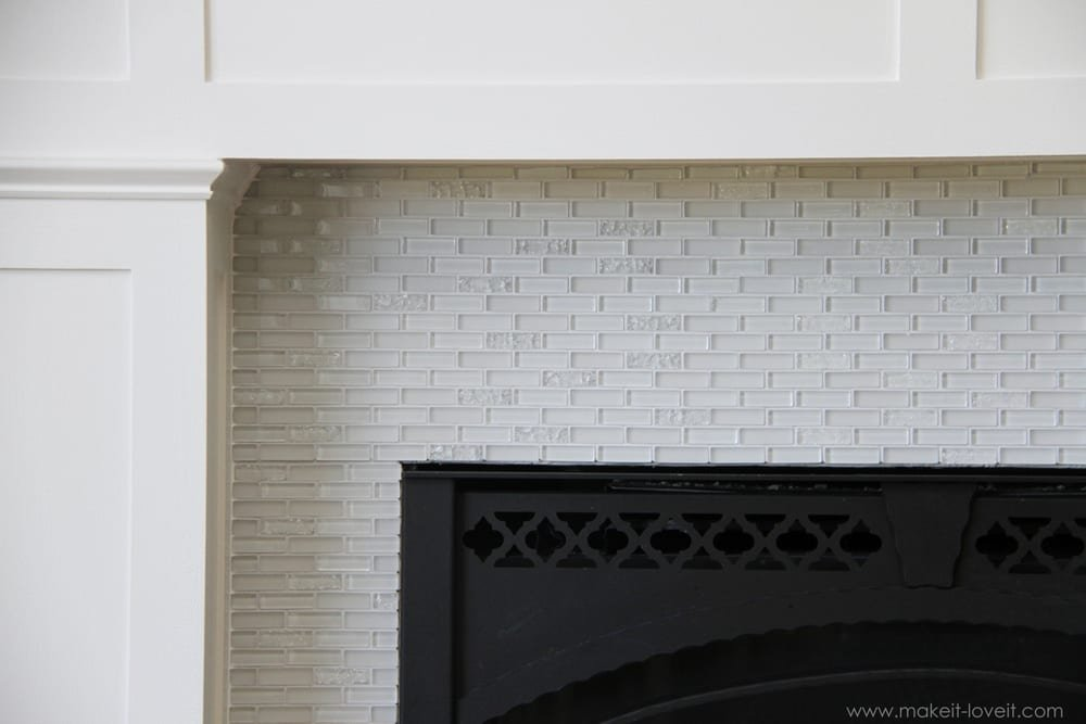 gallery for white glass tile fireplace