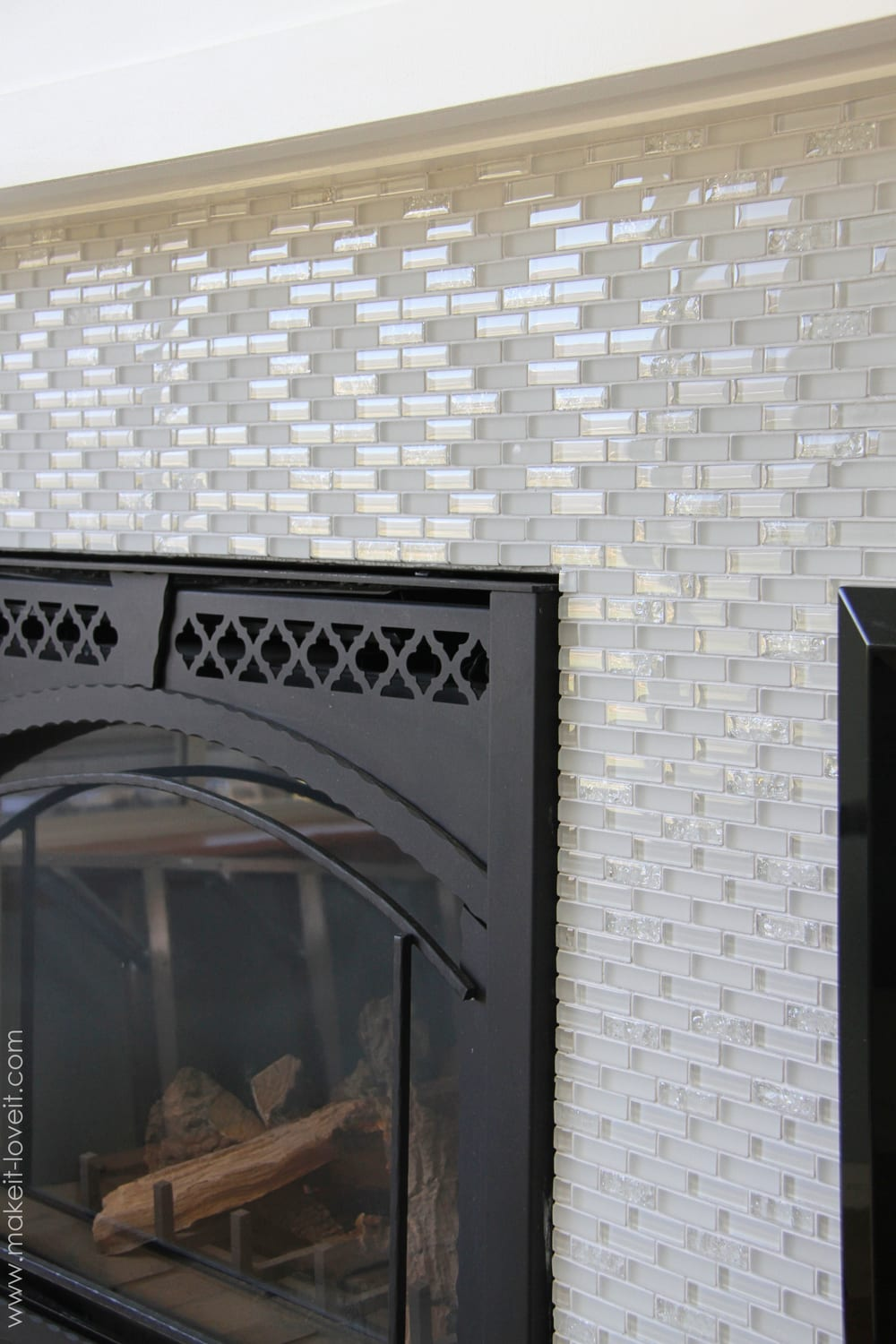 Home improvement laying tile on a fireplace walls or - Tiling a brick fireplace ...