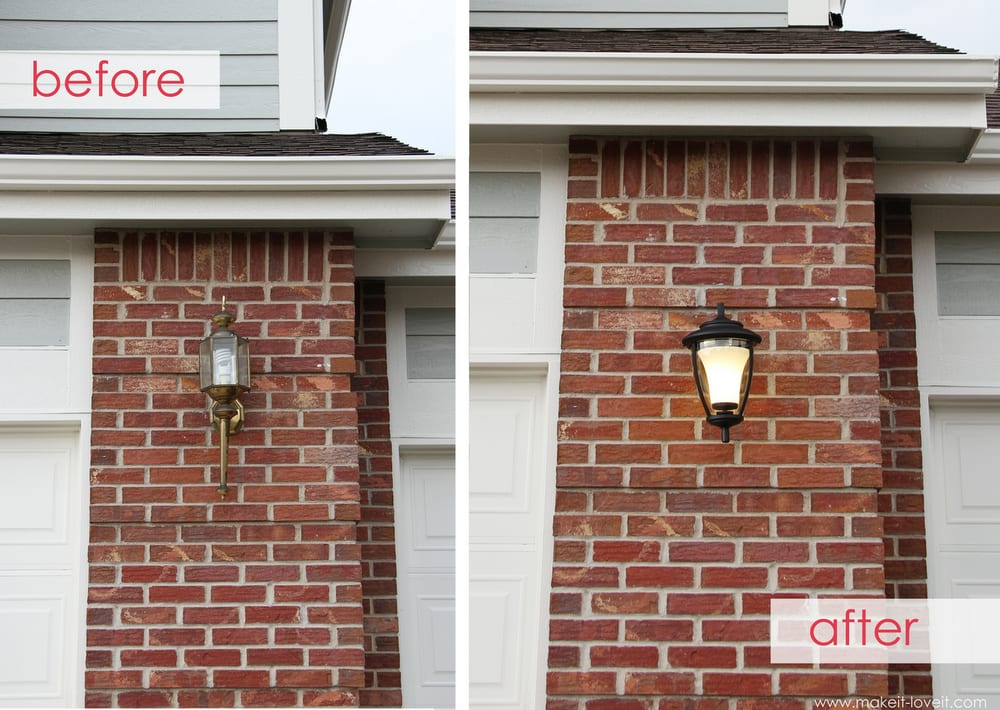 Home improvement replacing outdoor light fixtures don 39 t for Front entrance light fixtures