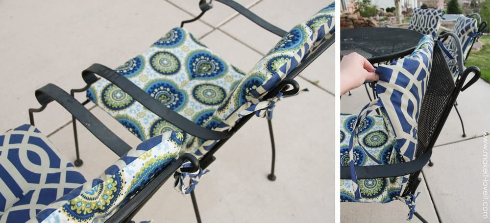New outdoor chair cushions