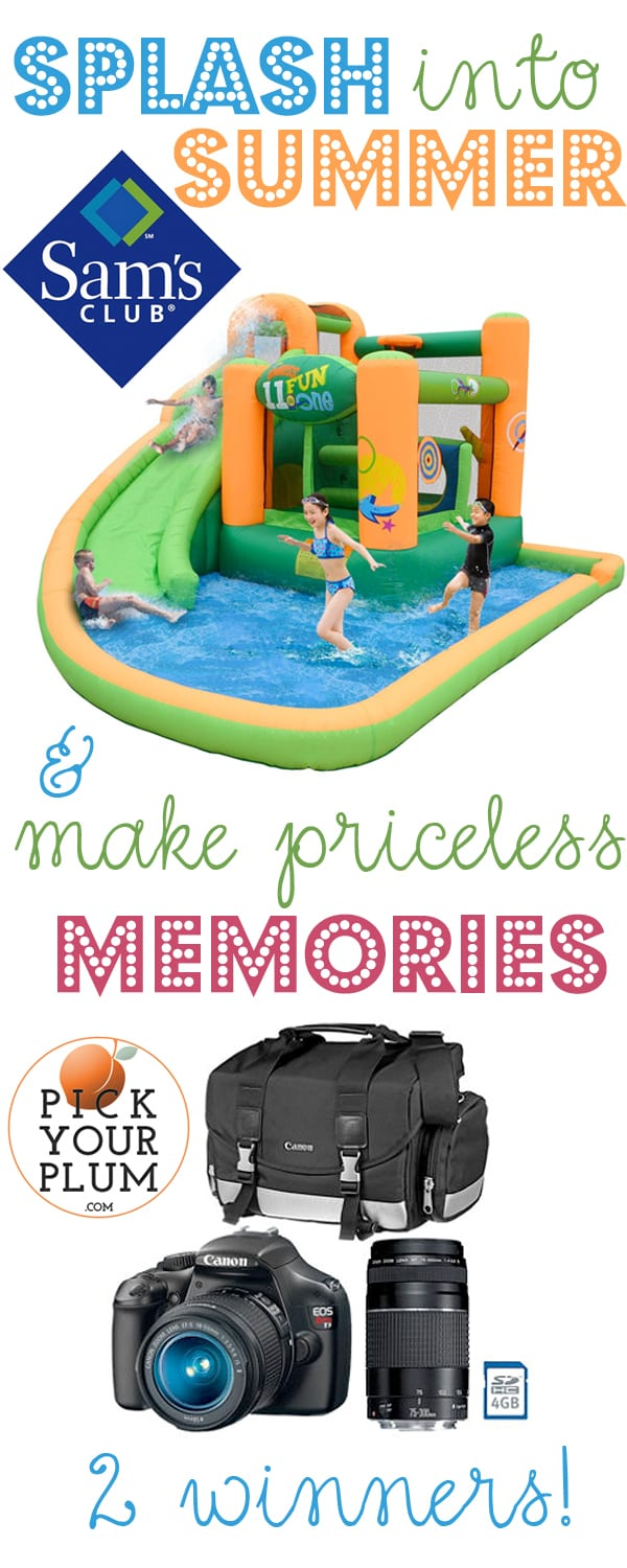 Summer Giveaway: Water Bounce House & Canon Camera (CLOSED!!!)