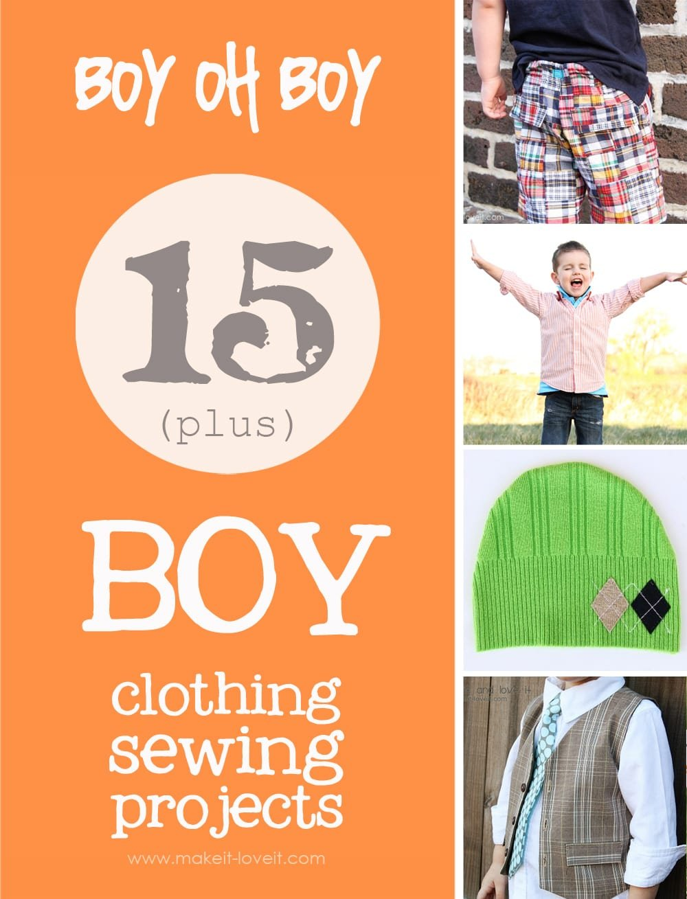 15+ boy sewing projects