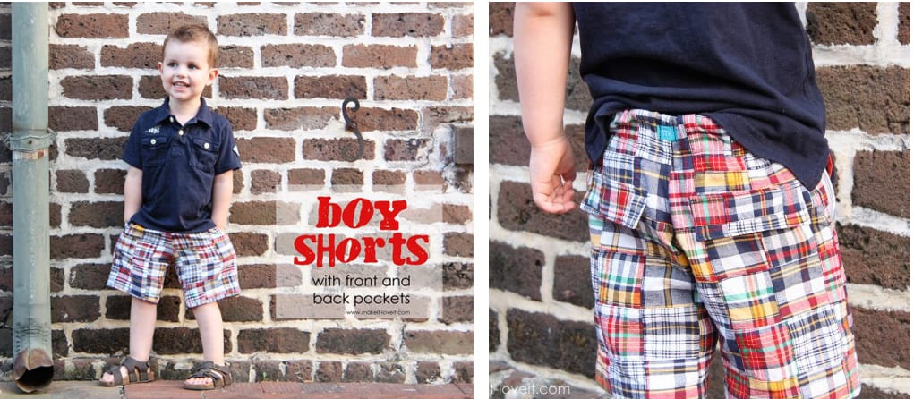 boy shorts with pockets