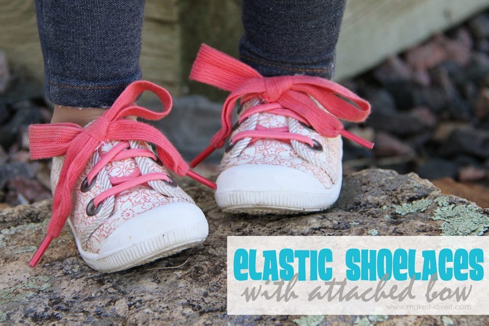 elastic laces with attached bow