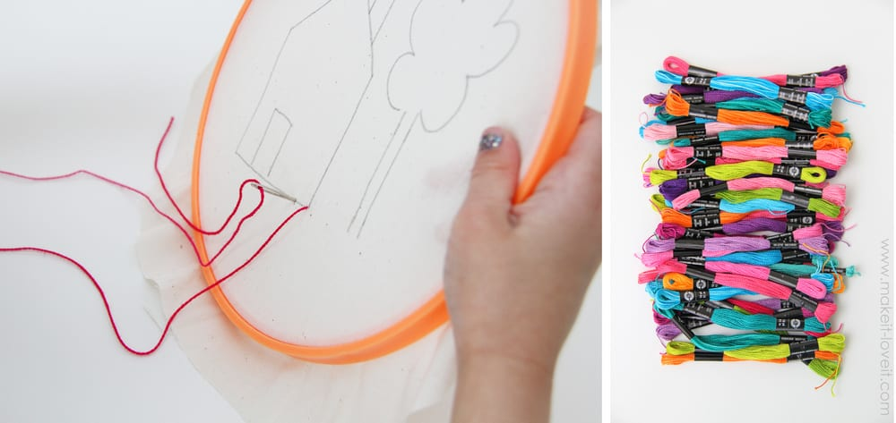 Teaching Kids to Sew, Part 2: Using Fabric, Tying Knots, & Tracing Designs | Make It and Love It