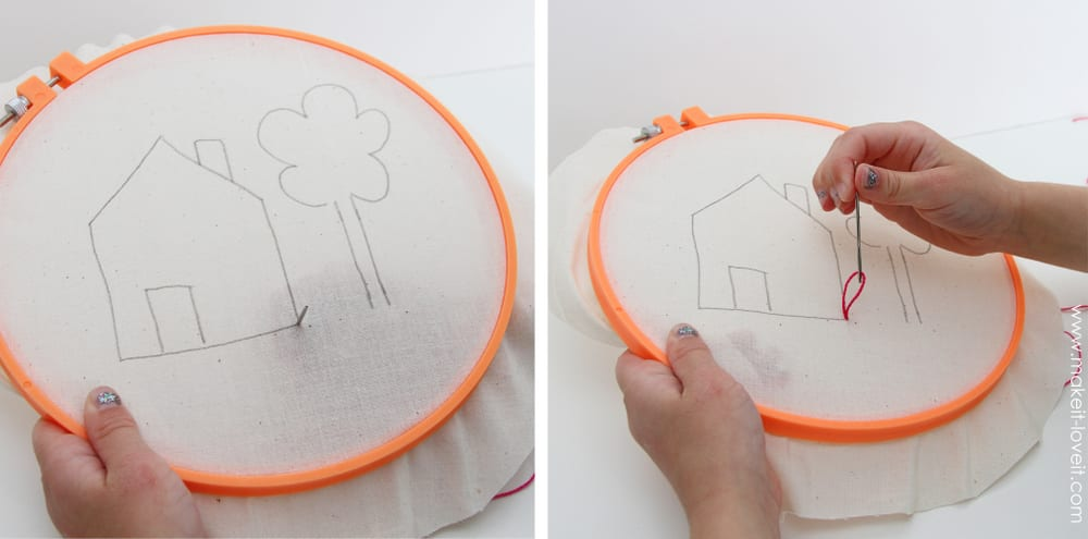 hand stitch with hoop