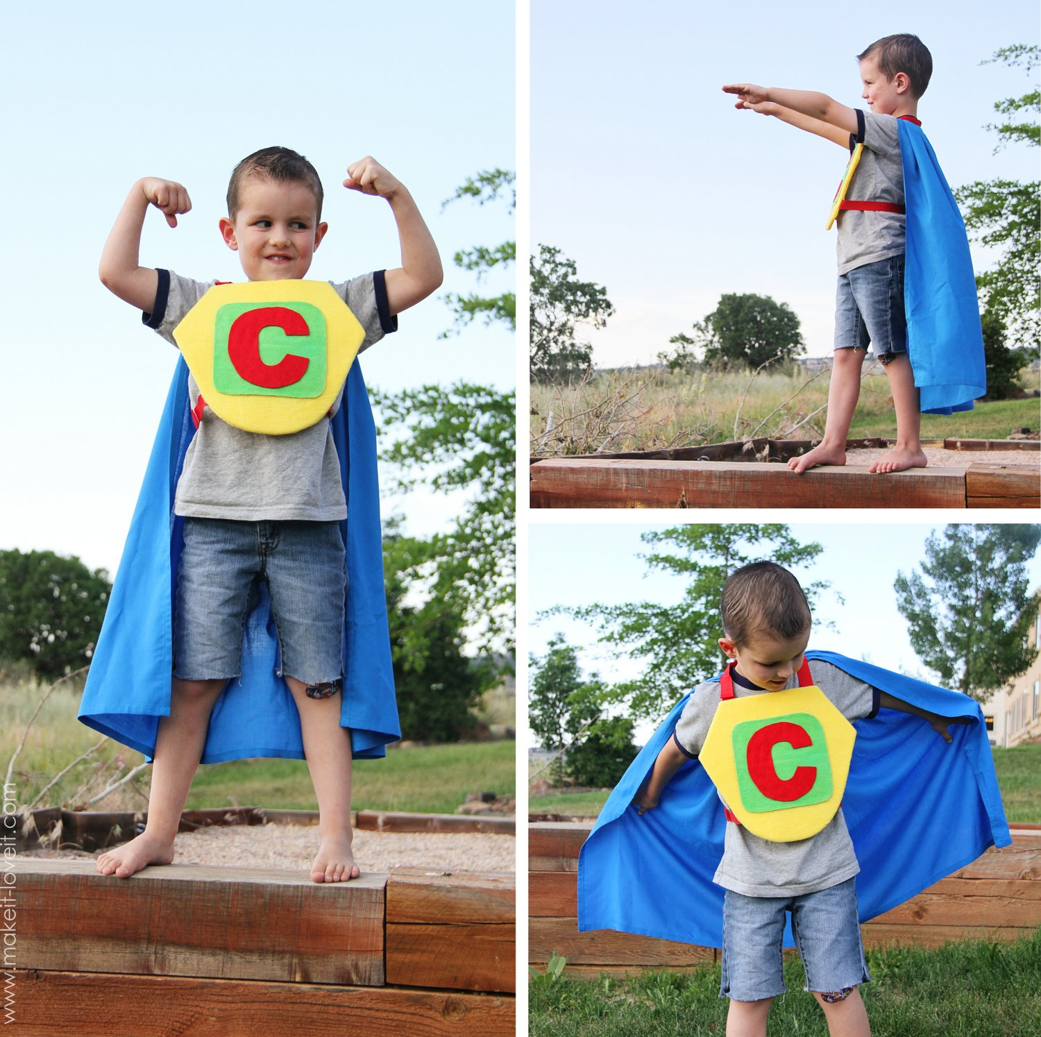 super hero cape with chest plate