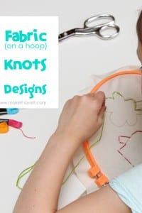 Teaching Kids to Sew: Using Fabric, Tying Knots, Tracing Designs