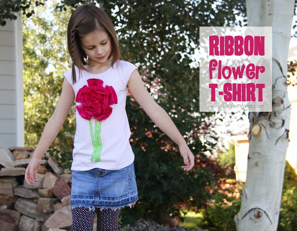 Big ol' Puffy Ribbon Flower Tshirt (yeah….crazy name!)