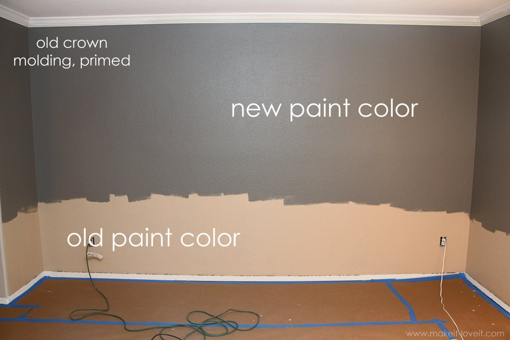 Chair Rail Uneven Wall Part - 35: (And If Youu0027re Painting Ceilings And Old Crown Molding, Do That Very  First.) However, You Only Need To Paint The Top 2/3 Of The Wall.
