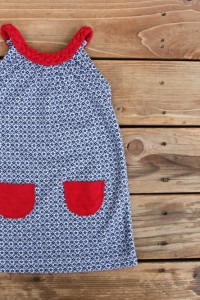 Keepin' it Cheap...for the 4th of July {Turn a Tshirt into Dress w/ Braided Collar}