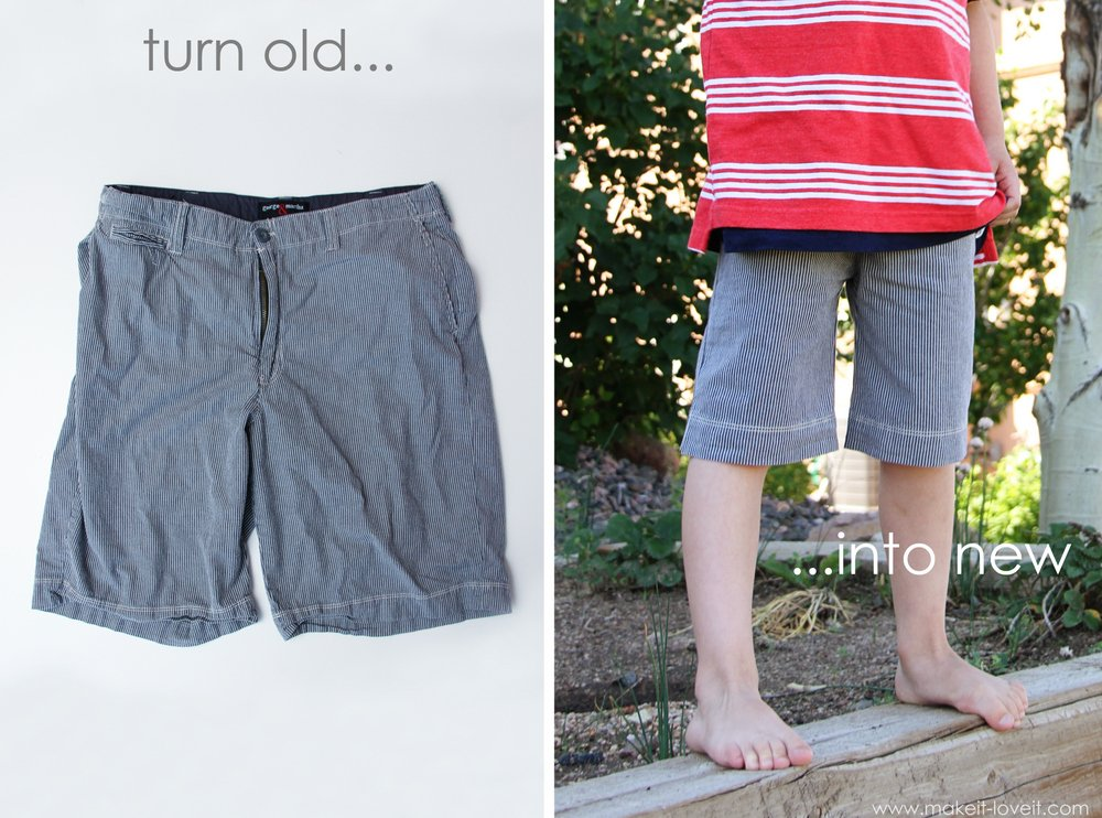 refashion men's shorts