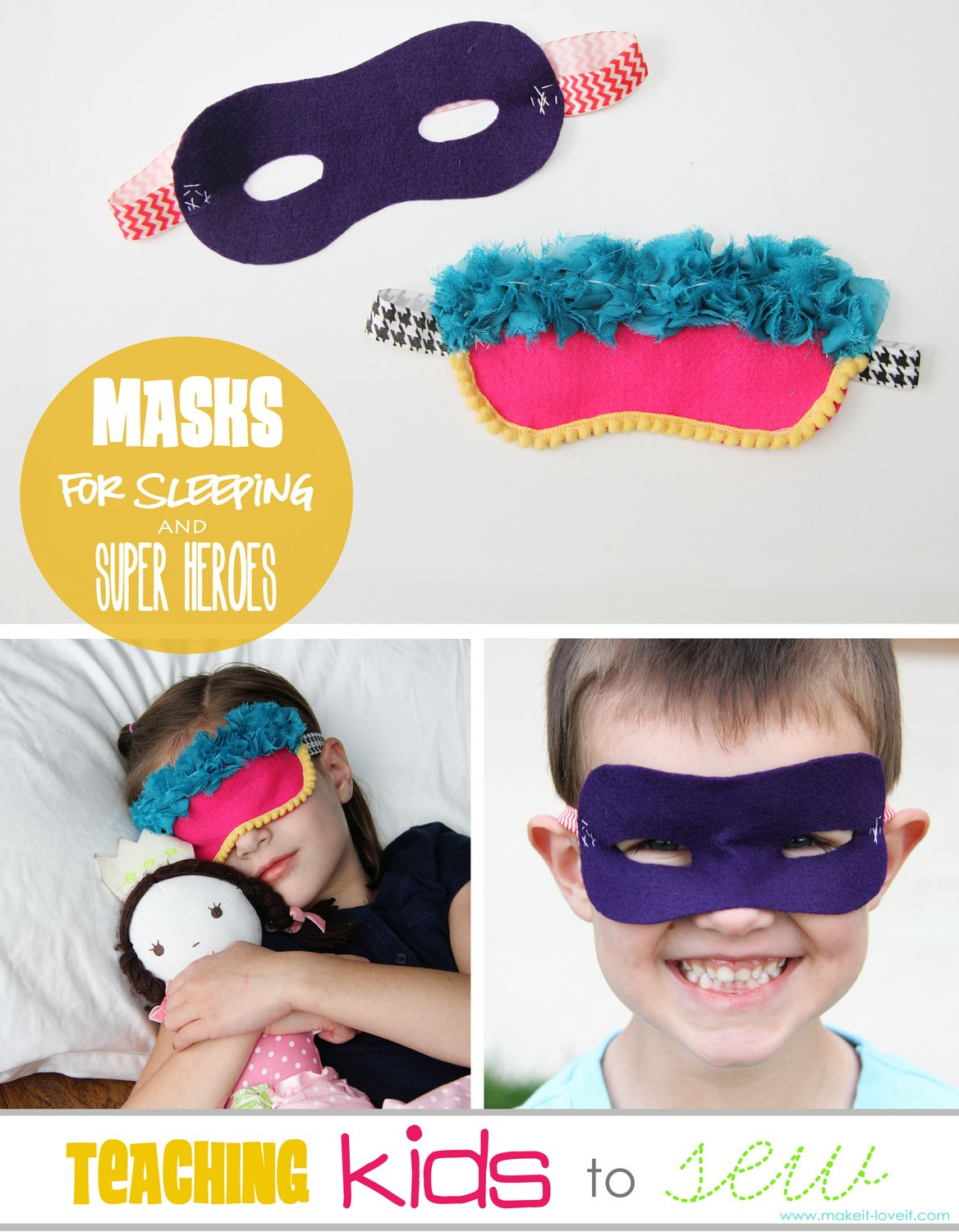teach kids to sew masks