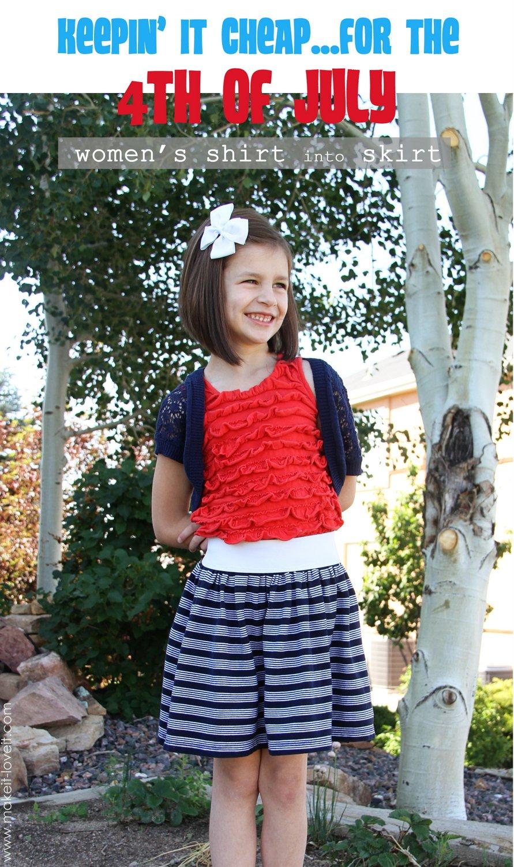 womens shirt into girl skirt