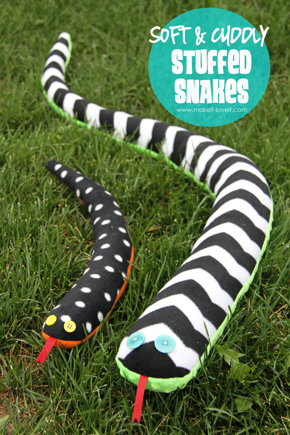 Stuffed Toy Snakes……soft and cuddly!!