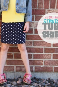 30 Minute Stretchy Tube Skirt....(with enclosed elastic waistband)