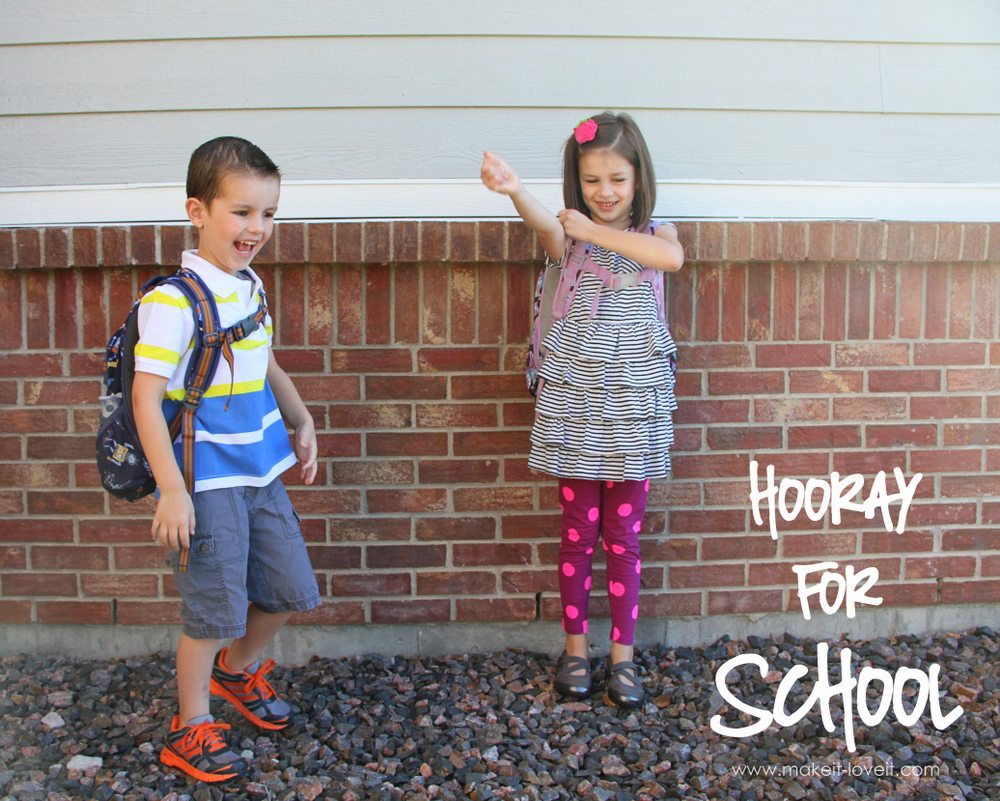 Another School Year…..and how I made my kindergartener cry!  {Boo.}