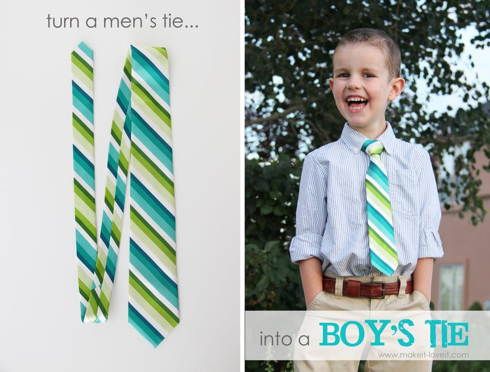 mens tie into boys tie