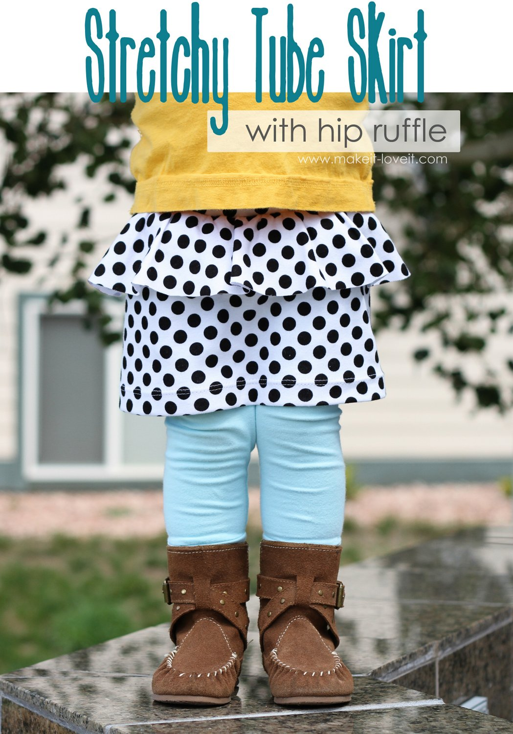 Stretchy Tube Skirt with Hip Ruffle (for girls and women both!)