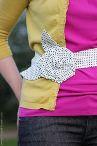 Fabric Flower Belt......cinch it in!!